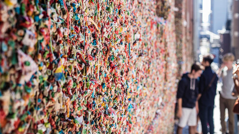 Chewing gum wall photo
