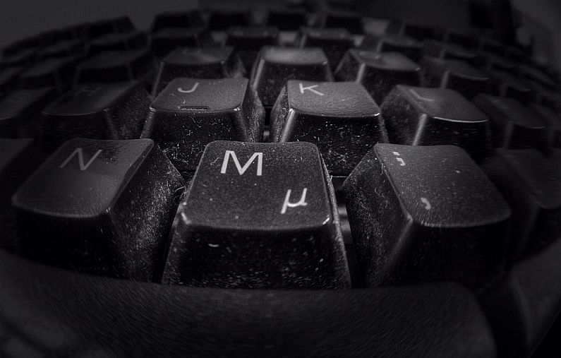 Dirty office keyboard photo